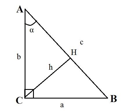 Прямоугольный треугольник формулы
