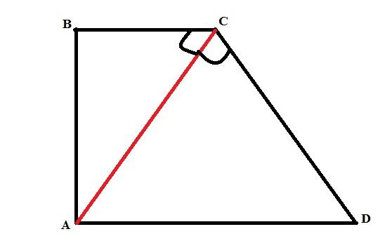 Высота прямоугольной трапеции